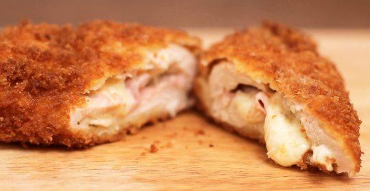 شرائح صدور الدجاج المحشوة بالجبن